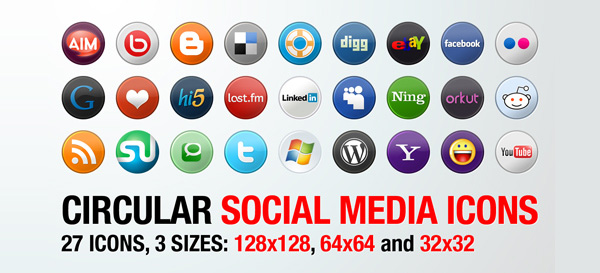 Social Media Icon Sets – Best Of