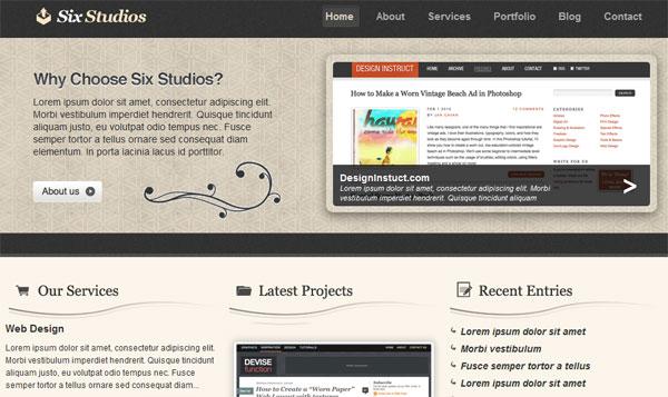 Clean & Classy PSD Web Template