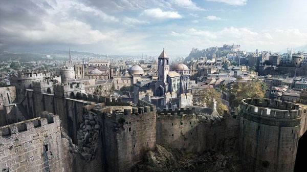 Assassins Creed E3 trailer matte painting