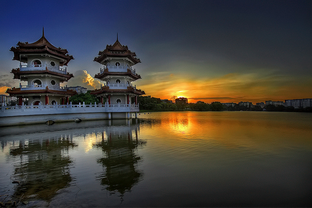 Sunset at Singapore Chinese Garden