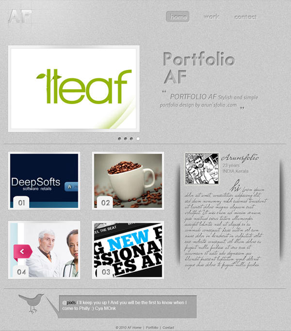 30 Free Portfolio PSD Templates