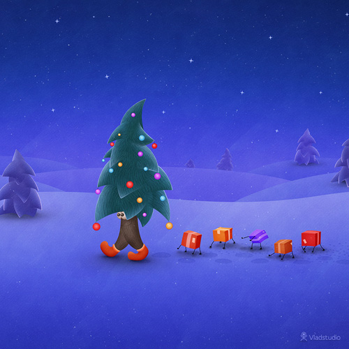 The Traveling Christmas Tree wallpaper