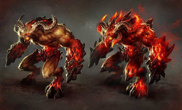 inferno juggernaut by perzo d2xmk5g 1 20 Stunning Game Character Concept Arts