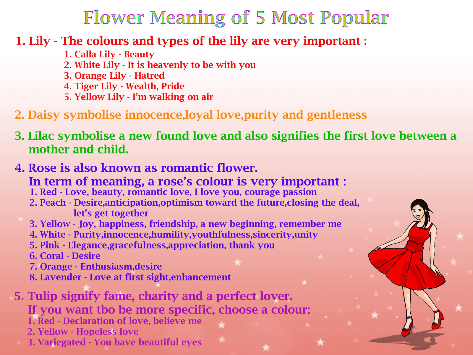 Love u understand the meaning of flowers for Meaning of flower colors