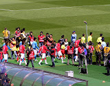 ジュビロ磐田、浦和レッズ、両選手入場