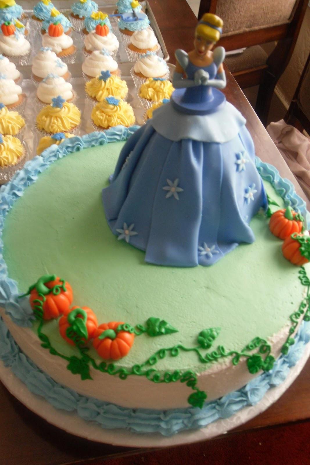 Sugar Rabbit Cinderella Cake And Cupcakes
