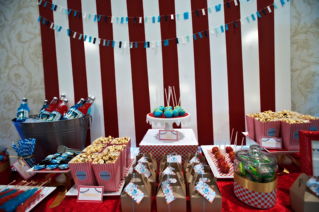 chic sweets adorable circus themed baby shower