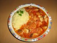 пилешки хапки в доматен сос