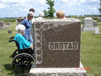 The Orstad monument here is where Marit Gissinger Orstad, Edward's wife, and their child is buried