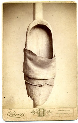 19th century Cabinet Card of an Old Worn Shoe- Anonymous Works