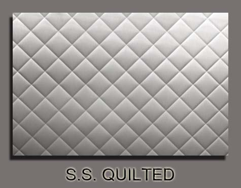 champagne sheet metal stainless steel quilted stove