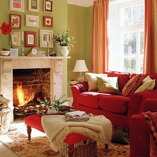 Won 39 t you be my nabor paint the town red for Red and taupe living room ideas