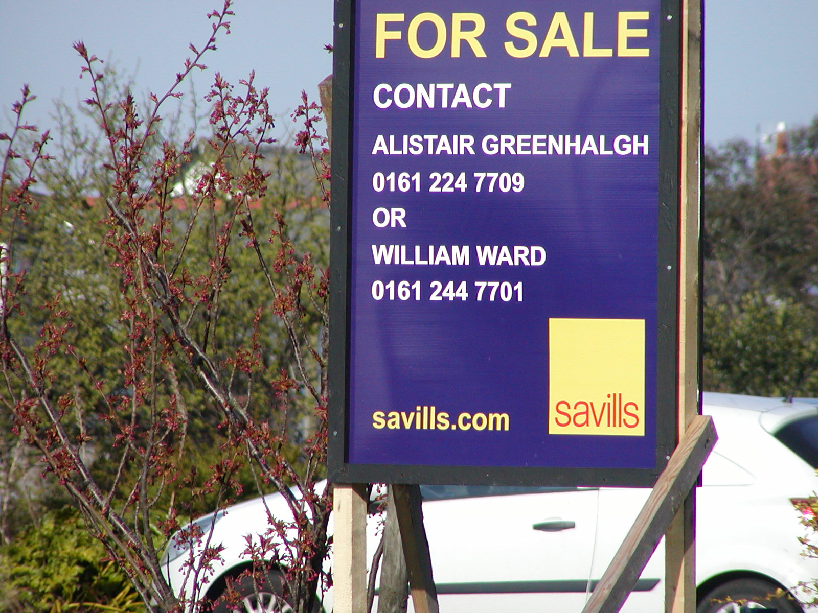 I keep looking at the Savills web site, but I haven't seen any adverts on it ...