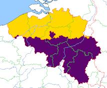 Les trois Régions de la Belgique
