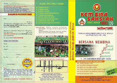 Contoh Pamphlet Program