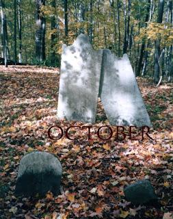 old graveyard in autumn