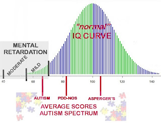 autism types avarage score