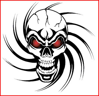 Skull Tattoos Tribal Sketch