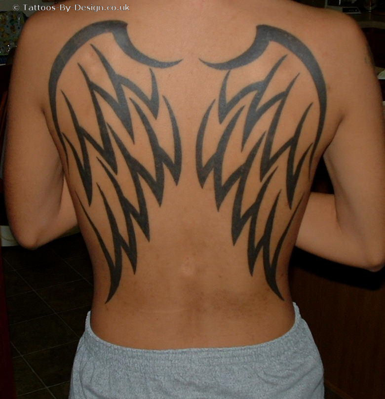 wings on back tattoo. tribal tattoo wings, various