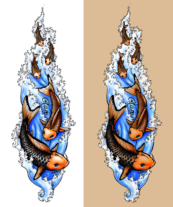 koi fish tattoo designs. Koi Fish Tattoo Ideas