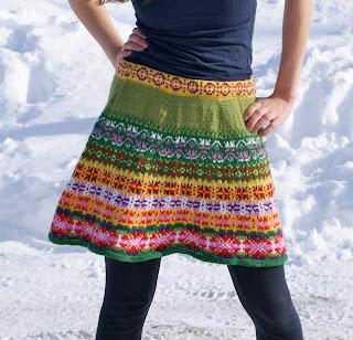 prairie skirt patron de jupe tricotée détail
