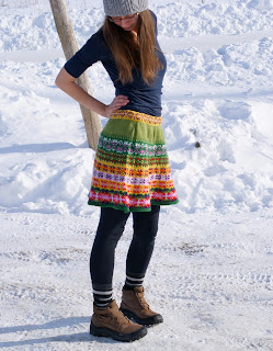 prairie skirt patron de jupe tricotée maude design