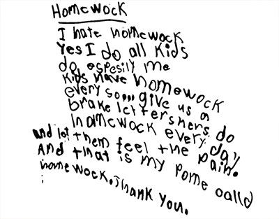 poems for school homework