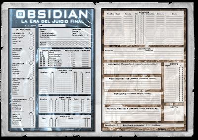Ficha de Obsidian por Francisco Bravo