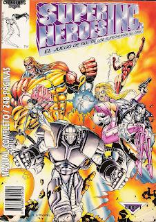 Portada del juego de rol Superhéroes Inc.