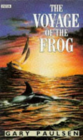 Book Cover Art from The Voyage of the Frog by Gary Paulson