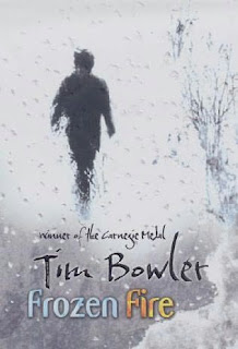 Book Cover of Frozen Fire by Tim Bowler