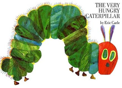 Book Cover Art for The Very Hungry Caterpillar by Eric Carle