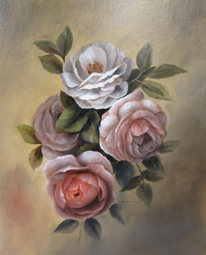 Hazel's Blog - Kintail Studio: Study of Roses using Frans Hals palette