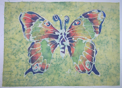 zorica, đuranić, batik, canvas, paintings, art, butterfly