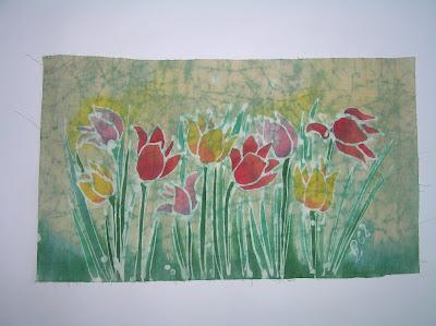 zorica, đuranić, duranic, djuranic, batik, canvas, painitngs, art, artistic, floral, tulips