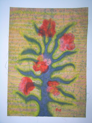 zorica, duranic, đuranić, batik, canvas, paintings, gallery, art, floral, tree, colorful, fantastic