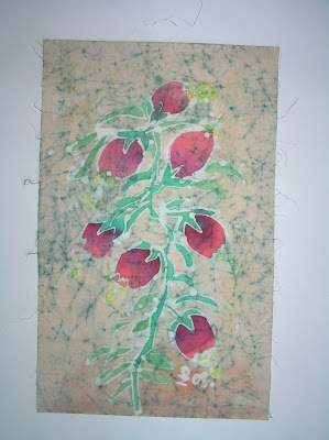 zorica, duranic, đuranić, batik, canvas, paintings, art, gallery, floral, flowers, bell flowers