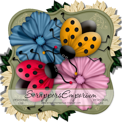 http://scrappersemporium.blogspot.com/2009/05/pretty-flowers-and-ladybugs-freebie.html