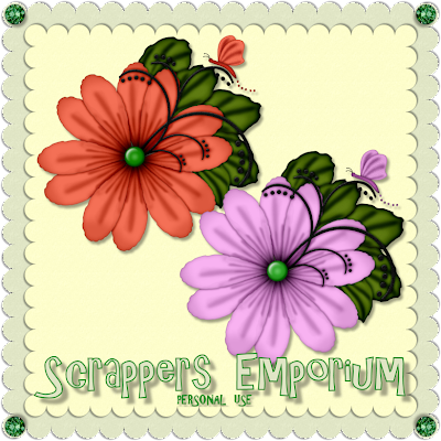 http://scrappersemporium.blogspot.com/2009/06/summer-flowers-freebie.html