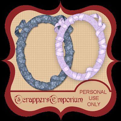 http://scrappersemporium.blogspot.com/2009/08/ribbon-wrapped-frames-freebie.html