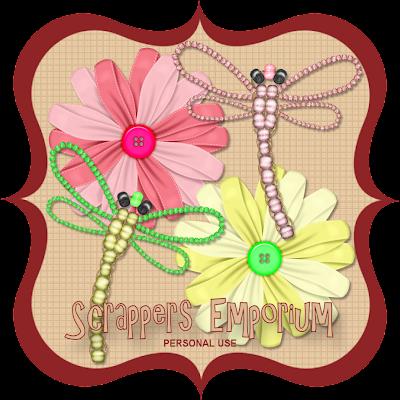http://scrappersemporium.blogspot.com/2009/08/flowers-and-dragonflies-freebie.html