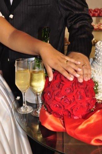 Um lindo momento! Um belo Bouquet e as cores do amor!!!