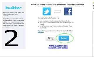 menghubungkan twitter dengan facebook