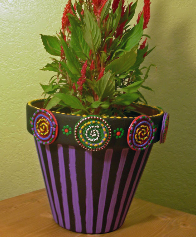 Painted Clay Pot Designs http://w.pginstruments.com/a/d9b529a90c