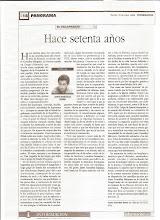 Artúculo de opinión en diario Información de Alicante