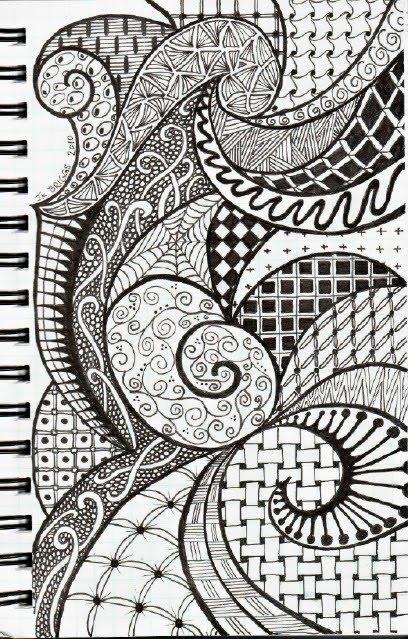 Basic Art Designs : Zentangles art journal inspiration pinterest
