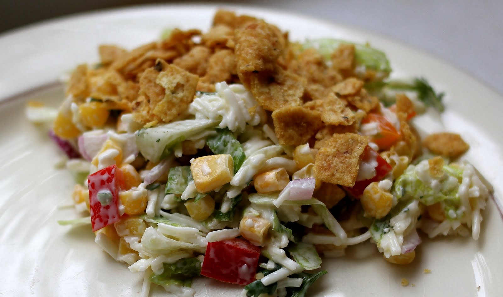 On My Menu: Cheesy Spicy Corn and Corn Chip Salad