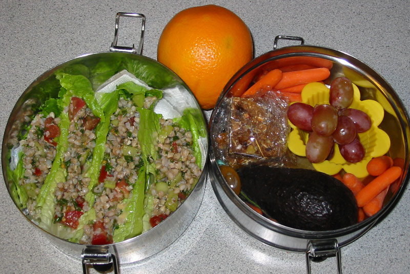Vegan Lunch Box: Buckwheat Tabbouleh Wraps