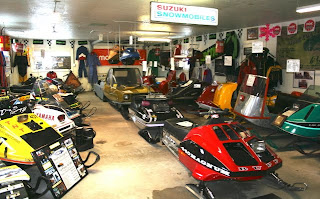 Back Room of Snowmobile Museum