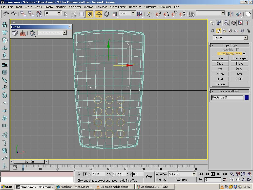 Des124 more of 3d max tutorial of phone for Tutorial 3d max